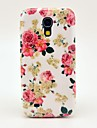 Bela Padrão Rose Flores Case Capa dura para Samsung Galaxy S4 Mini I9190
