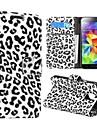 Caso do teste padrão do leopardo de couro para Samsung Galaxy i9600 S5