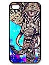 Elephant Aztec Pattern Plastic Hard Case for iPhone 4/4S