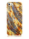 Colorful Feather Pattern Silicone Soft  Case for iPhone 4/4S