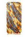 Colorful Feather Padrão Soft Case de silicone para iPhone 4/4S