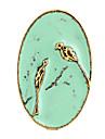 Liga de ouro Anéis Declaração de pássaros do vintage das mulheres (1 Pc)