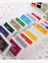 Мультфильм красочные пластиковые чернил Pad (4 пакета) (случайный цвет)