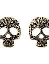 Góticas Pierce Crânio Bronze liga Brincos (1 Par)
