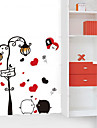 1PCS Colorful Black&White Pig Wall Sticker