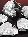 Ожерелья с подвесками Кулоны В форме сердца В форме цветка Серебрянное покрытие Любовь Сердце резной Бижутерия ДляДля вечеринок