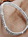 Silver Plated 2 Row Crystal Anklet Ankle Bracelet