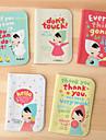 прекрасный мультфильм девушка с платком случае кредитных карт (случайный цвет)