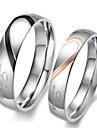 Кольца для пар Обручальное кольцо Любовь Свадьба Нержавеющая сталь В форме сердца Серебряный Бижутерия ДляСвадьба Для вечеринок День