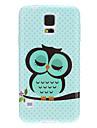 Dormir Coruja mancha o teste padrão TPU macio caso capa protetora Voltar para Samsung Galaxy i9600 S5