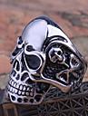 anel dos homens do crânio de aço de titânio falta Rose®