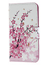 Pink Peach Blossom Pattern PU Leather and Plastic Back Cover Full Body Case for Motorola MOTO G