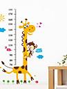 Жираф обои животных мультфильма измерения высоты наклейки съемные дети ребенок спальня