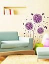 1шт фиолетовый цветок стикер стены