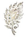 웨딩 스타일 우아한 도금 한 모조 다이아몬드 브로치 (색상 랜덤)