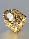 cadeau pour petite amie européenne strass or royales anneaux des états (d'or) (1 pc)