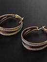 Earring Hoop Earrings Jewelry Women Party / Daily Alloy Silver