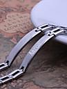Персональный подарок Простой серебристый Мужские украшения из нержавеющей стали выгравированы ID Браслеты 0.8cm Ширина