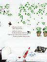 1шт красочные стены стикер растение в горшке