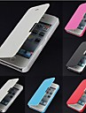 Para Capinha iPhone 5 Flip / Áspero / Magnética Capinha Corpo Inteiro Capinha Cor Única Rígida Couro PU iPhone SE/5s/5