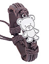 z&x® peluche 25cm nationales enveloppement Bracelet en cuir pour hommes (1 pc)