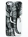 Padrão Elephant Esquerda Hard Case Capa para iPhone 4/4S