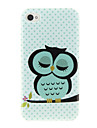 Cartoon Owl Style Protective PC Back Case for iPhone 4/4s