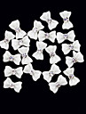 20PCS 3D Белый Смола горный хрусталь Bowknot ногтей украшения