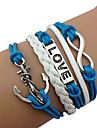 ancre rose®fashion Mlle 8-mot amour bracelet en cuir