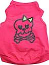 Коты Собаки Футболка Розоватый Одежда для собак Лето Весна/осень Черепа Милые Хэллоуин