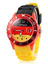 Drapeau de l'Allemagne Pattern Date d'affichage du coloré hommes de quartz de bande de montre-bracelet cadeau Coupe Football silicone