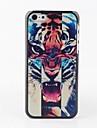 아이폰 5C를위한 다채로운 호랑이 머리 뒤 케이스