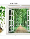 1шт красочные съемный пейзажи за наклейки стены окна