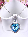 Blue Heart of Ocean Titanic Crystal Necklace Pendant with Chain