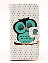 Sleeping Owl Pattern PU Leather Hard Case with Magnetic Snap and Card Slot for Samsung Galaxy S4 mini I9190