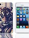 Affaire Tiger Eyeing conception rigide avec protection d'écran 3-Pack pour iPhone 5/5S