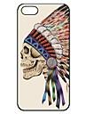 Indiano crânio padrão plástico rígido caso para o iPhone 5/5S