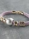 Mlle rose®punk style bracelet tissé à la main pourpre