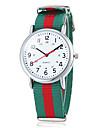Мужская Повседневный стиль Красочный Frabic браслет кварцевые наручные часы (разных цветов)