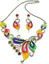 мода стиль набор ожерелье сплава ювелирные изделия серьги