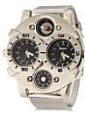 Men's Multi-Functional Symmetrical Dial Alloy Band Quartz Analog Fashion Watch (Assorted Colors) Wrist Watch Cool Watch Unique Watch