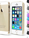 Transparent Soft TPU Back Cover Case for iPhone 5/5S (Assorted Colors)