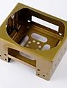 Открытый Отдых Портативный складной плита Бронзовый + желтый (без топлива)