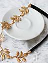 Свадебные Pearl листьев Цветочный Кристалл Галстуки Волосы