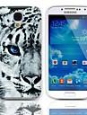 Hard Case Tiger Pattern avec protecteurs d'écran 3-Pack pour Samsung Galaxy S4 mini-I9190