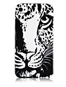 Leopard Head Pattern Silicone Soft Case for iPhone5/5S