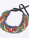 Women's Statement Necklaces Acrylic Silver Plated Alloy Fashion Bohemia Blue/Red Jewelry Party Daily Casual 1pc