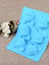 20.3cm * 14.8cm * 2.5cm окружающей среды силикона мыши торт / мороженое / формы шоколада (случайный цвет