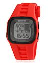 남자의 다기능 유행 사각 다이얼 실리콘 악대 LED 디지털 방식으로 스포츠 시계 (분류 된 색깔)