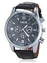 Men's Classic Round Dial PU Band Quartz Analog Wrist Watch (Assorted Color) Cool Watch Unique Watch Fashion Watch